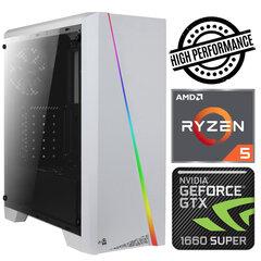 INTOP Ryzen 5 5600X 8GB 480SSD M.2 NVME+2TB GTX1660 SUPER 6GB no-OS kaina ir informacija | Stacionarūs kompiuteriai | pigu.lt
