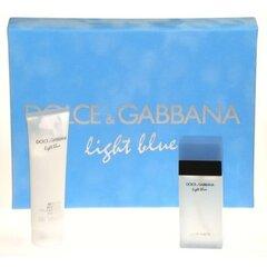 Rinkinys Dolce & Gabbana Light Blue: EDT moterims 25 ml + kūno kremas 50 ml