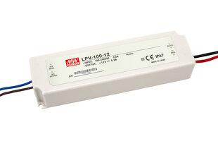 Impulsinis LED maitinimo šaltinis Mean Well LPV-100-12 100W DC12V 8.5A IP67