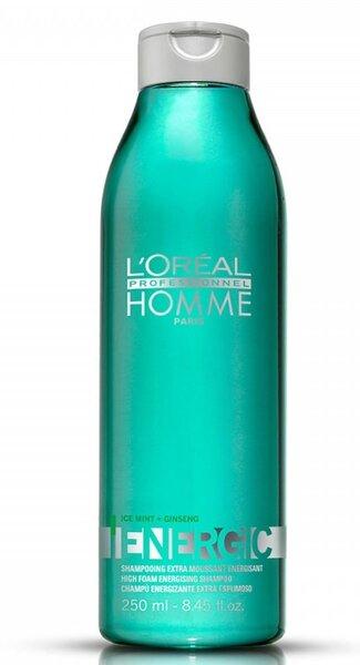 Šampūnas vyrams suteikiantis plaukams energijos L'Oreal Professionnel Homme Energic 250 ml