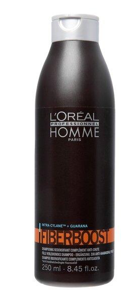 Plaukus tankinantis šampūnas vyrams L'Oreal Professionnel Paris Homme Fiberboost 250 ml