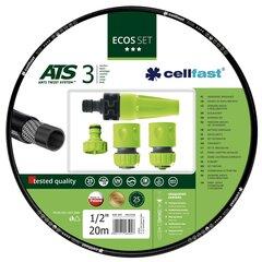 """Laistymo žarna CellFast, 20m 3/4"""" + purkštukų rinkinys"""