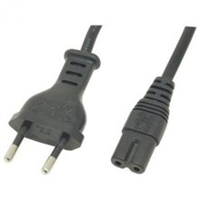 Power supply cable Euro 8 jack, 1m
