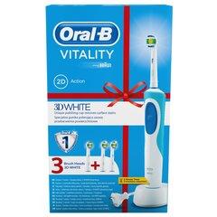 Dantų šepetėlis Braun Oral - B D12.513 Vitality White + 2 antgaliai EB18