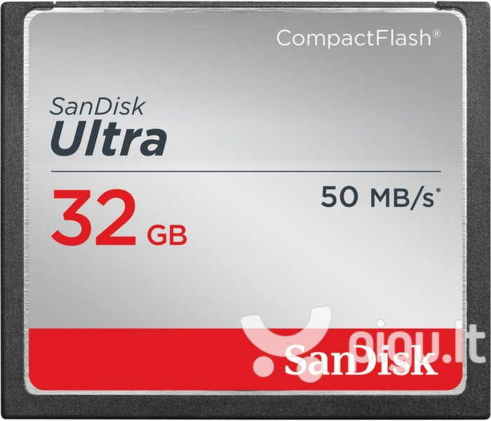 Atminties kortelė SanDisk Compact Flash Ultra card 32GB 50MB/s