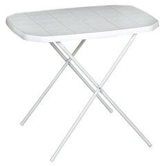 Sulankstomas turistinis staliukas 70x50 cm, baltas kaina ir informacija | Sulankstomas turistinis staliukas 70x50 cm, baltas | pigu.lt