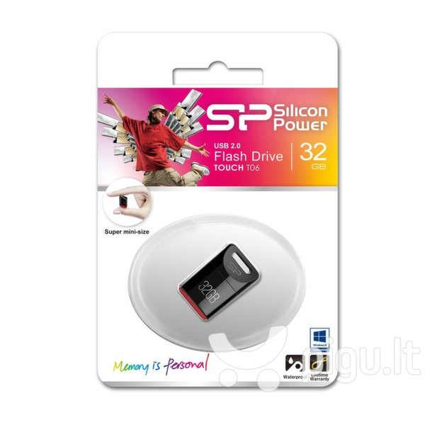 Silicon Power Touch T06 32GB 2.0, Juodas