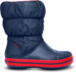 Crocs™ guminiai batai Winter Puff Boot, Navy/Red