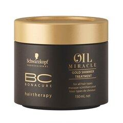 Žvilgesio suteikianti plaukų kaukė Schwarzkopf Professional BC Bonacure Oil Miracle Gold Shimmer 150 ml