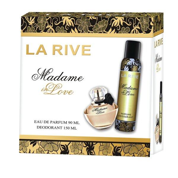 Rinkinys La Rive Madame in Love: EDP moterims 90 ml + dezodorantas 150 ml