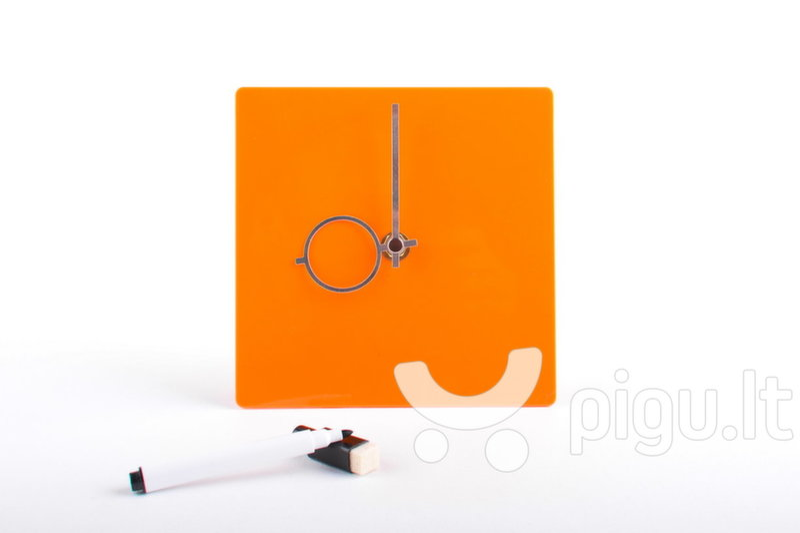 Stalo laikrodis LS, oranžinis