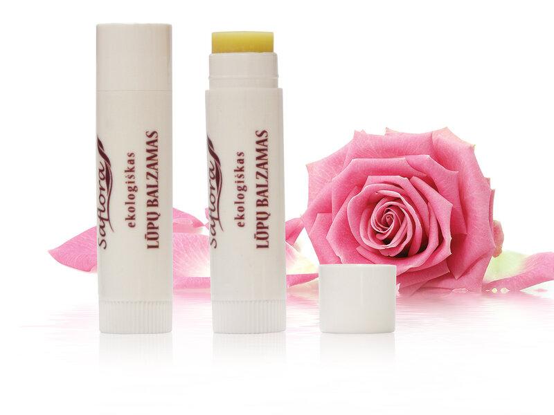 Lūpų balzamas su rožių kvapu Saflora 6 g kaina ir informacija | Lūpų dažai, blizgiai, balzamai, vazelinai | pigu.lt