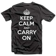 "Marškinėliai ""KEEP CALM AND CARRY ON"""