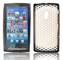 Forcell Sony Ericsson Xperia X10 Silicone Back Case Lux Transparent/Black