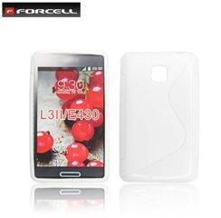 Apsauginis dėklas Forcell Back Case skirtas LG Optimus L3 2 (E435), Baltas kaina ir informacija | Telefono dėklai | pigu.lt