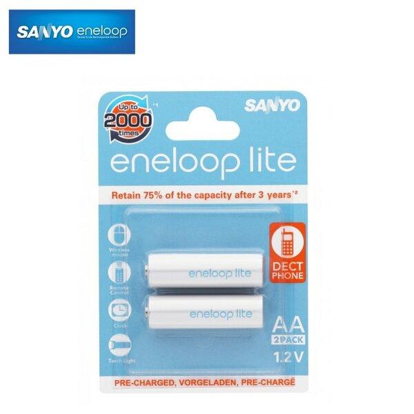 Įkraunami elementai Eneloop AA LR06 1000mAh 1.2V HR-3UQ-2BP (2vnt)