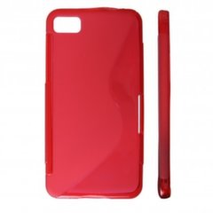 KLT Back Case S-Line Sony Xperia Miro ST23i silicone/plastic case Red