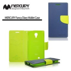 Mercury Fancy Diary Book Case for Apple iPhone 4 4S Blue/Light Green