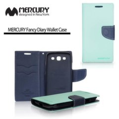 Mercury Fancy Diary Book Case for Apple iPhone 6 4.7inch Blue/Light Blue