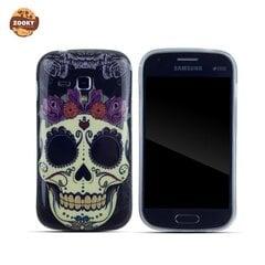 Zooky Silicone Back Case with Skulls Art Design Samsung S7560 S7562 S7580 Trend kaina ir informacija | Telefono dėklai | pigu.lt