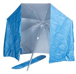 Paplūdimio skėtis su užuovėja, mėlynas kaina ir informacija | Skėčiai, markizės, stovai | pigu.lt