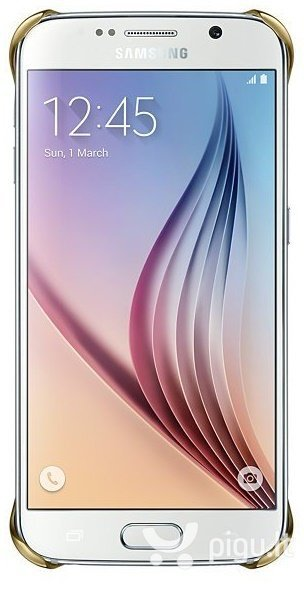 Apsauginis dėklas Clear Cover skirtas Samsung Galaxy S6 (G920), Auksinė
