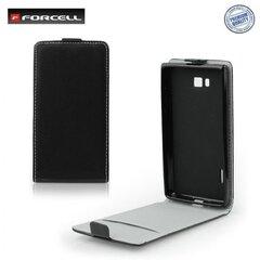 Atvečiamas dėklas Forcell Flexi Slim Flip skirtas HTC Desire 210, Juodas