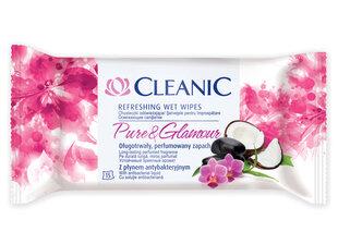 Universalios parfumuotos drėgnos servetėlės Cleanic Pure & Glamure, 15 vnt kaina ir informacija | Universalios parfumuotos drėgnos servetėlės Cleanic Pure & Glamure, 15 vnt | pigu.lt