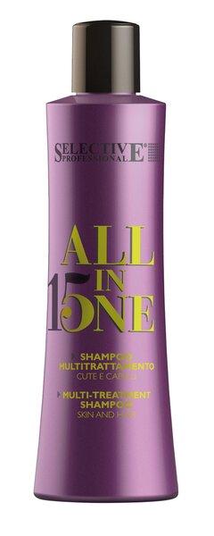 Daugiafunkcinis kondicionuojamasis šampūnas Selective Professional All in One 250 ml