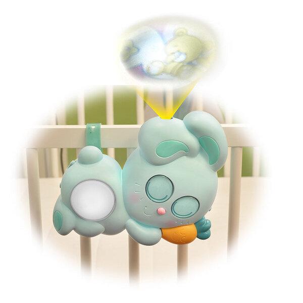 Zuikutis-naktinė lemputė Quaps Baby Bunny su šviesos ir garso efektais