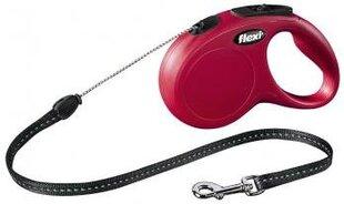 Pavadėlis FLEXI Classic S 5m, raudonas