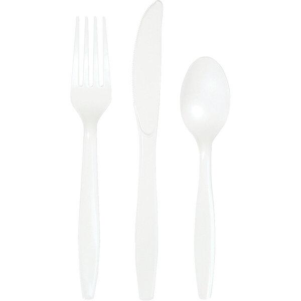 Stalo įrankių rinkinys, baltas
