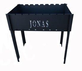 Šašlykinė Stopuva su užrašu JONAS 49x30x14 cm kaina ir informacija | Šašlykinės | pigu.lt
