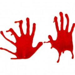 Кровавые отпечатки рук