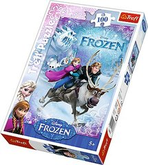 "Dėlionė Frozen ""Ledo šalis"" Trefl, 100 detalių"