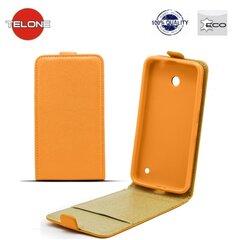 Atverčiamas dėklas Telone Shine Pocket Slim Flip skirtas LG Joy (H220), Oranžinis kaina ir informacija | Telefono dėklai | pigu.lt