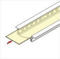 2m LED juostos profilio FLAT8 dangtelis, skaidrus