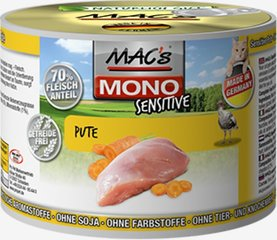 Mac's Mono Sensitive Turkey (100%) + Carrots 200 g