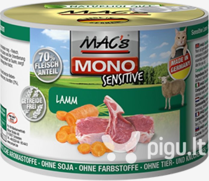 Mac's Mono Sensitive Lamb (100%) + Carrots 400 g