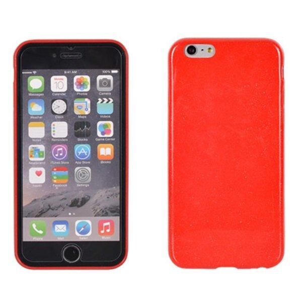 Apsauginis dėklas Telone Candy Ultra Slim 0.3mm skirtas Apple iPhone 6, Raudonas