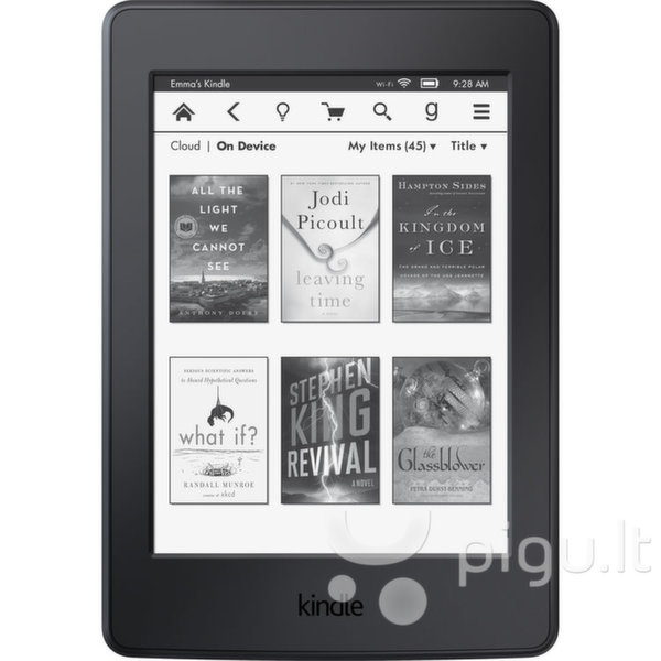 "Kindle Paperwhite 3 2015 WiFi 6"", Juoda"