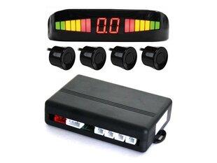 4 daviklių parkavimo sistema su LED ekranu