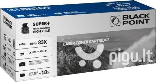 Toner Black Point LBPPH83X | Black | 2600 pp | HP CF283X / CRG-737