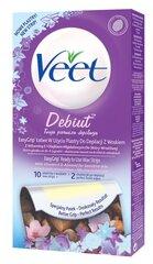 Depiliacinės vaško juostelės jautriai odai Veet Cold Wax Strips Debut 10 vnt. kaina ir informacija | Depiliacijos priemonės | pigu.lt