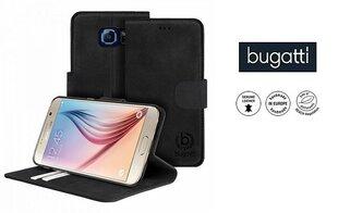 Atverčiamas dėklas MADRID Bugatti skirtas Samsung Galaxy S6, Juodas