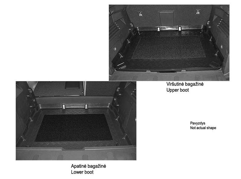 Bagažinės kilimėlis Volkswagen Polo 2012->(viršutinė bagaž.) /30045