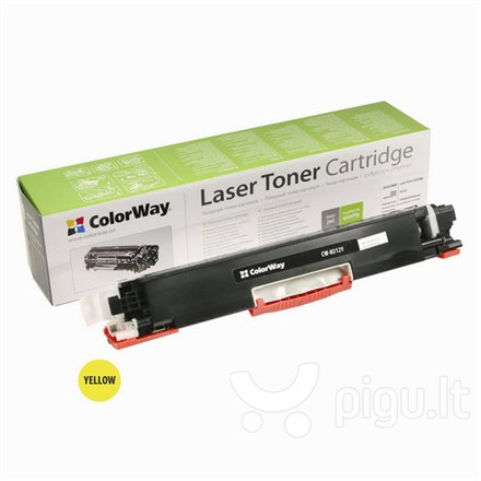ColorWay toner cartridge for HP CE312A (126Y); Canon 729Y