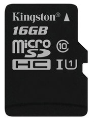Kingston microSDHC (G2) 16 GB, 10 klasės