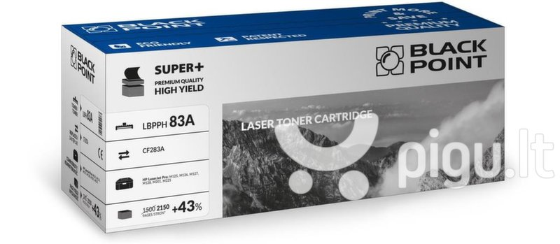 Toner Black Point LBPPH83A | Black | 2150 p. | HP CF283A | set 5 pcs