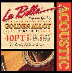 La Bella stygų komplektas akustinei gitarai 40PT Extra Light